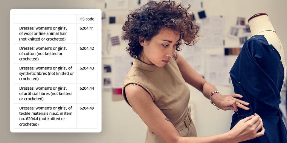 global ecommerce hs code dress
