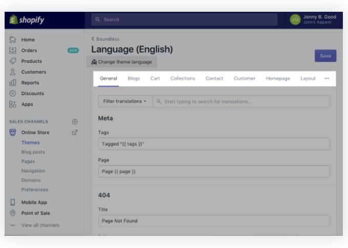 shopify language editor