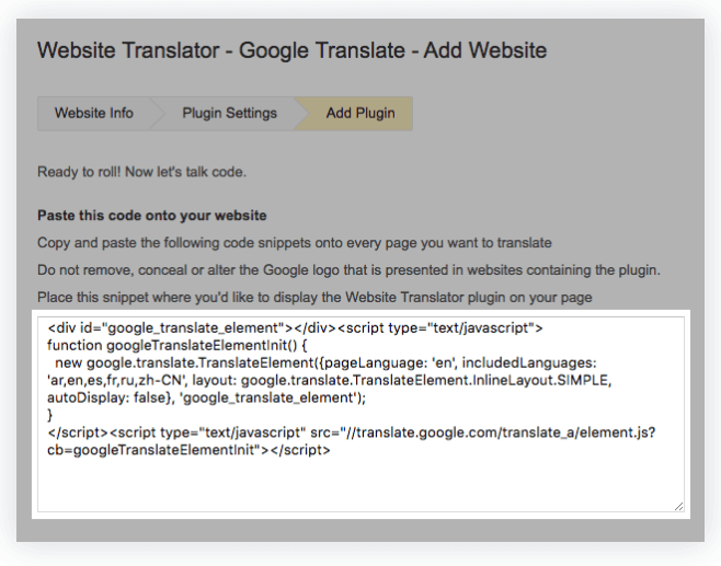 shopify translation google translate widget