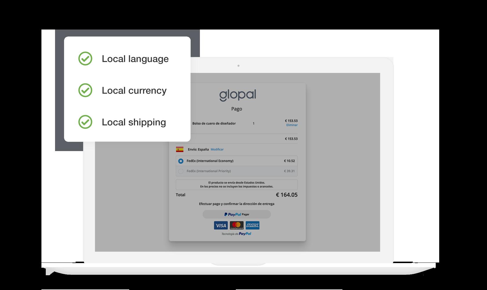 Glopal Localized Checkout